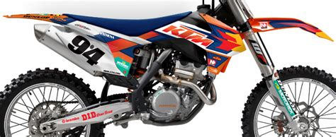 N Style Ktm Graphics N Style 2014 Factory Ktm Team Graphic Kit Bto Sports