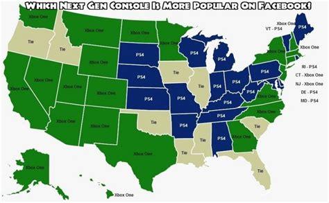 maps console la xbox one est plus populaire que la ps4 aux etats unis