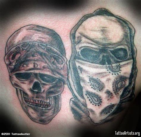 skull with hat tattoo designs cowboy bandana skulls design tattoos book 65