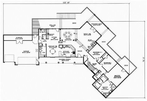 Rambler House Style by Ranch Style House Plans 3659 Square Foot Home 1 Story