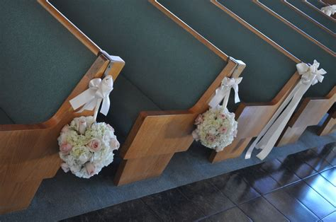 Orange And Pink Table Decorations Ceremony Pew And Chair Decorations