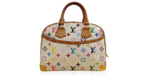 lyst louis vuitton trouville multicolor rainbow handbag