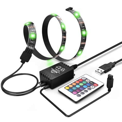 Led Rgb Waterproof 5050 90cm Kontroler Usb 5v Diskon rgb 5050 smd waterproof led lights 5v for lcd display tv car decor e669 ebay