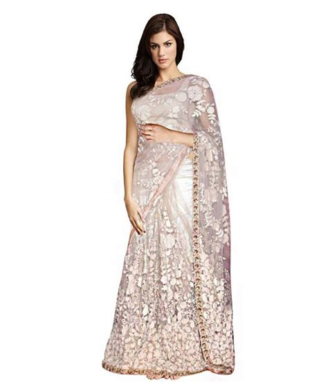 Orderan A N Sari eonn designers beige net saree buy eonn designers beige net saree at low price