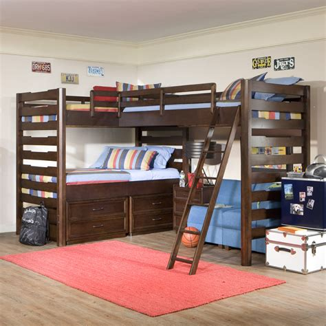 triple bunk beds studio triple corner loft bed rosenberryrooms com