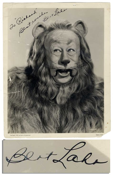 notes on a cowardly the biography of bert lahr books lot detail scarce bert lahr signed photo as cowardly