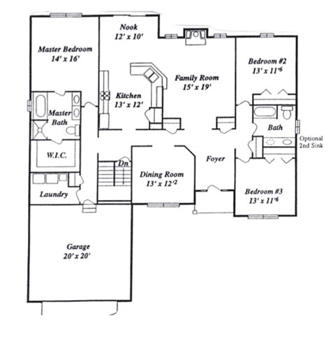great room floor plans open ranch floor plans cathedral ceiling grosir baju