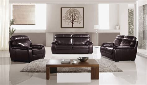 3 piece leather sofa set piaza 3 piece italian top grain dark brown leather sofa set