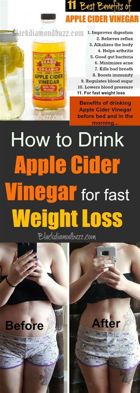 Is Acv A Detox To Drink Before Bed by How To Drink Apple Cider Vinegar For Fast Weight Loss