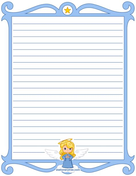 printable angel stationery printable angel stationery