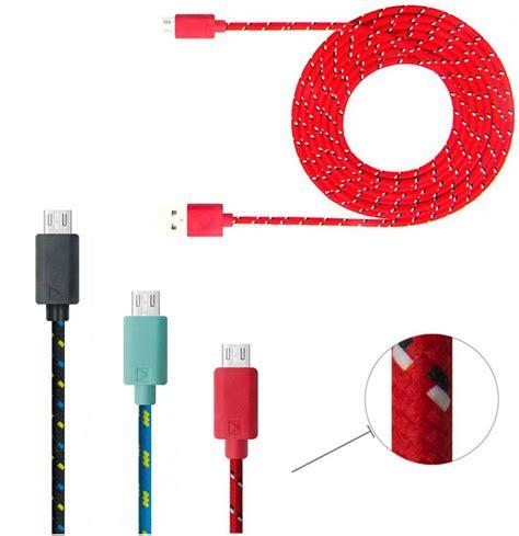 Kabel Charger Micro Usb Power Bank Bb Blackberry Z10 kleurrijke nieuwe 1 m stof gevlochten micro usb kabel voor samsung voor blackberry doek