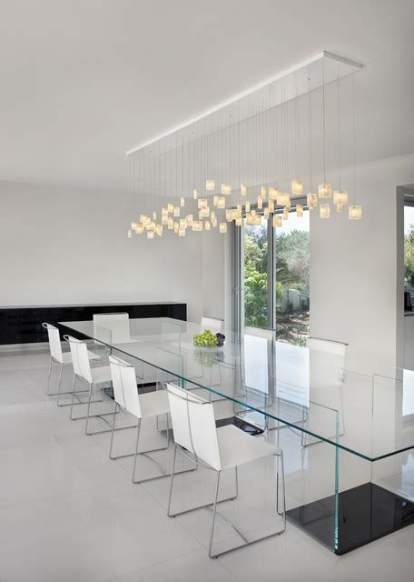 Contemporary Dining Room Orchids Chandelier By Galilee Contemporary Lighting For Dining Room