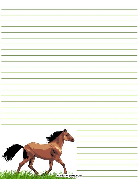 lined paper with horse border printable horse stationery and writing paper multiple