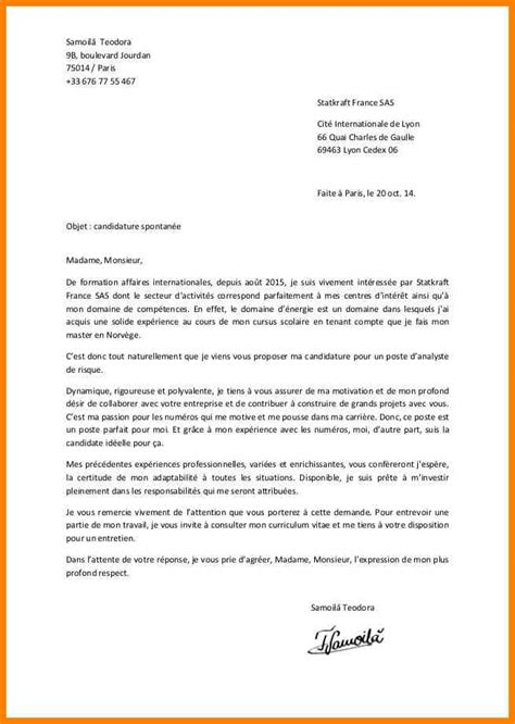 Exemple Lettre De Motivation En Mairie 4 Lettre De Motivation Candidature Spontan 233 E Mairie Cv Vendeuse