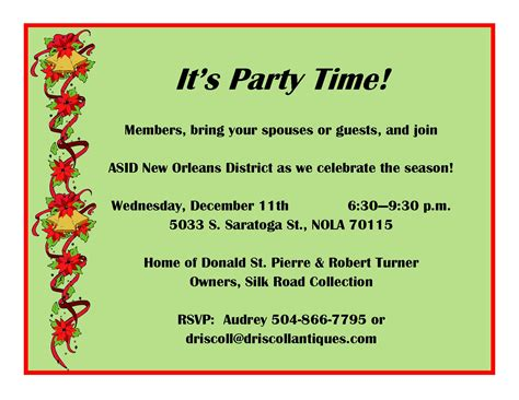 sle christmas party invitation email infoinvitation co