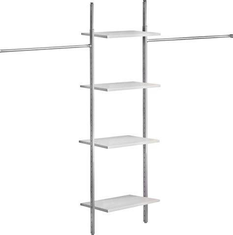 basix white interior storage for sliding wardrobe doors