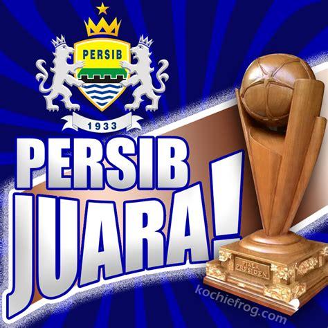 Trophy Piala Sepakbola Juara 1 2 3 Pemain Terbaik dp bbm persib juara animasi persib menang kochie frog