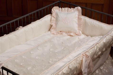 Lulla Smith Baby Bedding Lausanne Linen Set Dupioni Silk Linen Crib Bedding