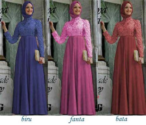 23 Pakain Muslim Untuk Wanita Warna Pink baju gamis pesta brokat nesya p705 busana muslim pesta murah