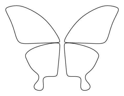 butterfly wing template butterfly wings pattern use the printable outline for