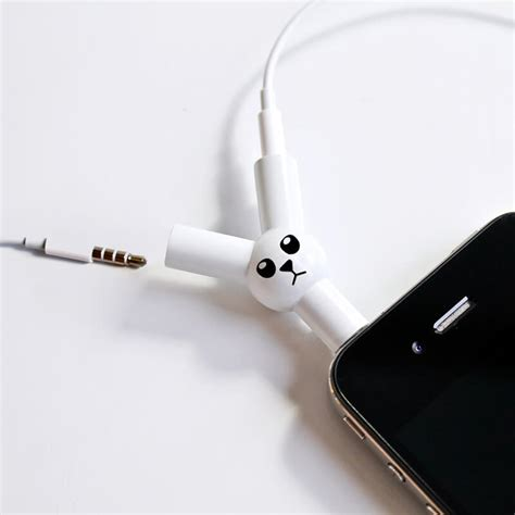 Rabbit Earphone With rabbit headphone splitter buy from prezzybox