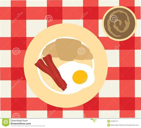 cover layout for english breakfast the english breakfast stock vector image 51625170