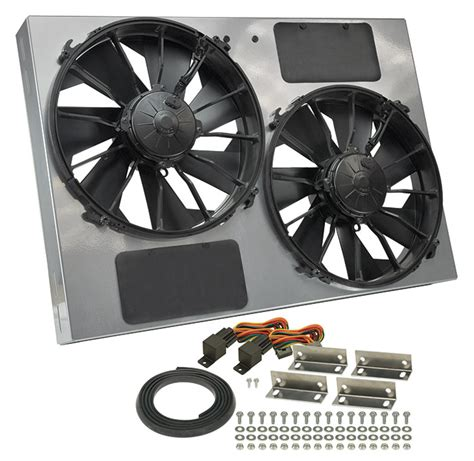 Cooling Fan Black Hi Lo derale performance 16927 gray black high output dual