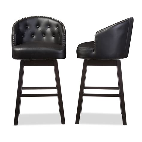 black leather tufted bar stools leather bar stool sc 1 st remodelista