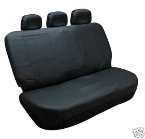 leather bench seat cover bestfh com bench car seat covers leather solid black 3