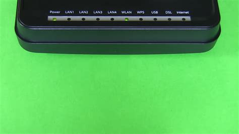 Light Indicator For Power Internet Wan Lan And Wi Fi