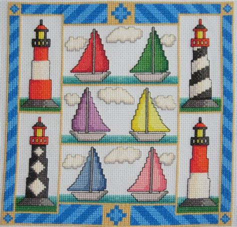 264 best cross stitched lighthouses images on pinterest 674 best images about cross stitch beach nautical on