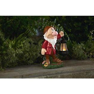 disney 17 quot statue with solar lantern grumpy outdoor living outdoor decor lawn ornaments