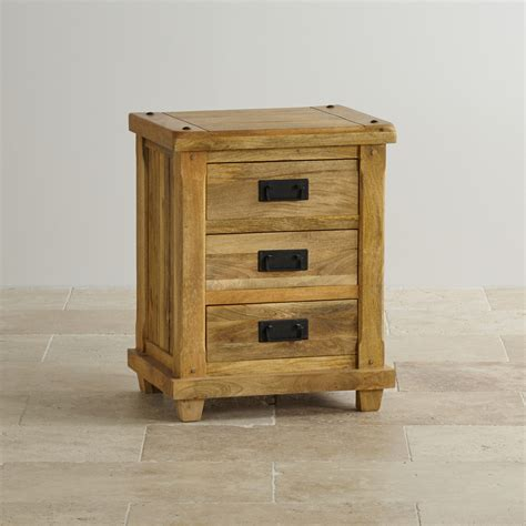 bedside drawers baku light bedside table in solid mango oak furniture land