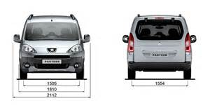 Peugeot Partner Dimensions Technical Data And Specifications Peugeot Partner Tepee