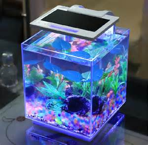 Small Desktop Fish Tank Sunsun Smart Dimmable Aquarium Bar Tables Small Marine