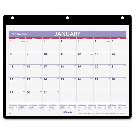 at a glance desk calendar at a glance monthly desk and wall calendar ld products