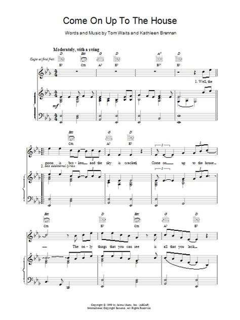 come on up to the house lyrics come on up to the house sheet music direct