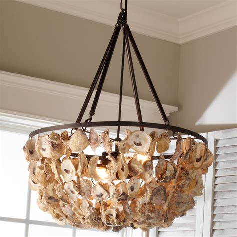 basket chandeliers oyster shell basket chandelier shades of light