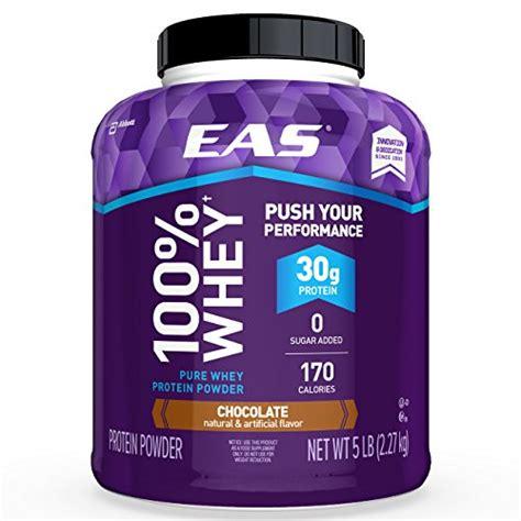 protein 30 grams eas 100 whey protein powder chocolate 5lb tub 30