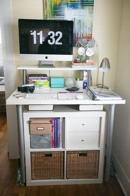 expedit standing desk standing desk expedit ikea hack future studio space