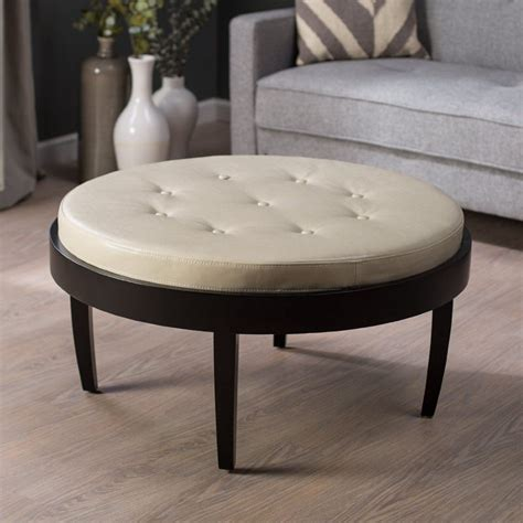 round ottoman table furniture furniture cosy home interior design using