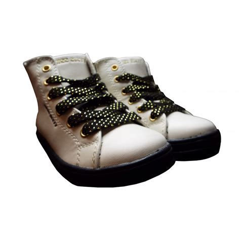 miss sixty shoes miss sixty black and white glittery high tops with gold zip