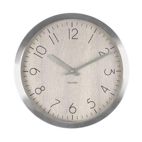 beautiful wall clock beautiful wall clock in light wood and aluminium
