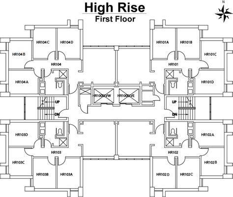 high rise building floor plan high rise