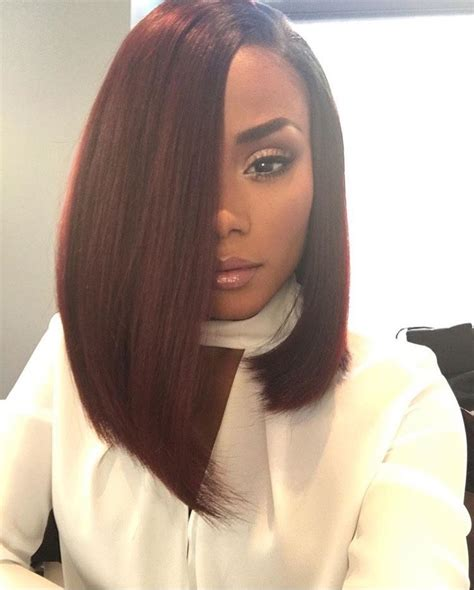 back hair sewing hair styles babe 14 quot brazilian straight hair extension ombre burgundy