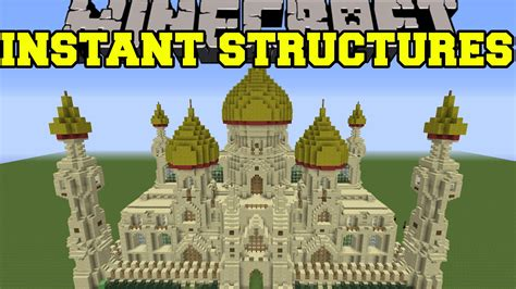 minecraft instant house mod minecraft instant structures epic palace better houses unique structures more