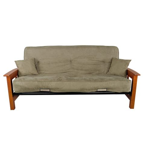 primo futon primo international indie sage green upholstered futon