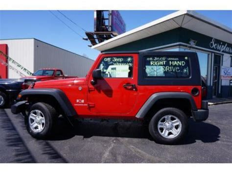 used 2008 jeep wrangler buy used 2008 jeep wrangler x rhd in 1615 n lincoln st