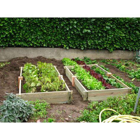 Jardin Potager En Bois le potager de jardin rectangulaire en bois non trait 233