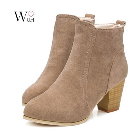 autumn winter cylinder boots high heels boots